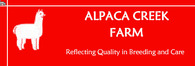 Alpaca Creek Farm - Logo
