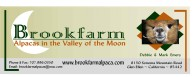 Brookfarm ~ Alpacas in the Valley of the Moon - Logo