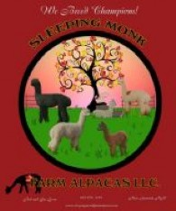 ALPACAS@SLEEPING MONK FARM   - Logo