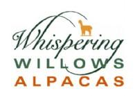 Whispering Willows Alpacas at Fishback Creek Farm - Logo