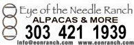 Eye of the Needle Ranch Championship Alpacas - Logo