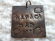Photo of Hand Stamped &quot;Alpaca Dad&quot; Keychain