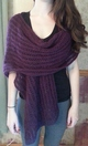 Photo of Alpaca Deep Purple Scarf/Wrap