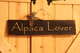 Photo of Alpaca Lover Sign w/Wire Hanger