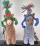 "Photo of Felted 4"" Huacaya Alpacas wt Hats"