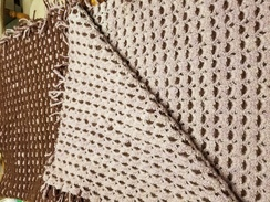 Hand Crocheted Reversible Crib Blanket