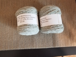 Yarn from our alpaca,  Illuminescence
