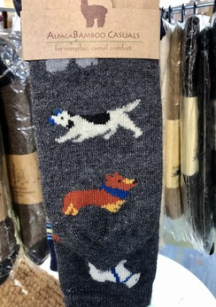 Photo of Socks- Alpaca Bamboo Socks with Dogs
