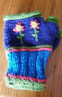 Photo of Colorful Fingerless Mitts