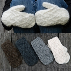 Photo of Cable knit mittens