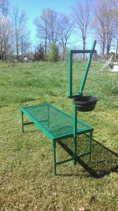 Photo of goat milking stand