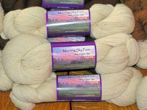 Morning SKY Farm's own yarn