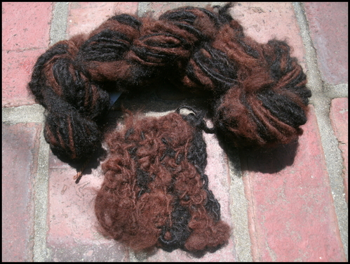 Yarn and sample made from Gabby & Chipeta