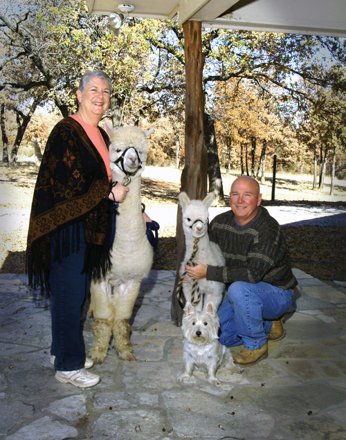 Jeff and Pam with Lucille, Lanny and Gus