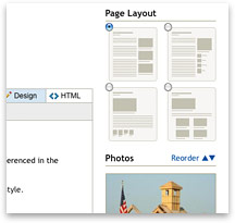 Easy page creation