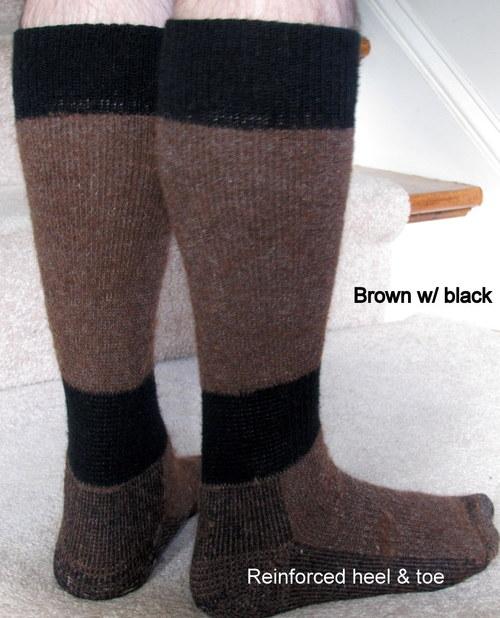 Brown w/ black