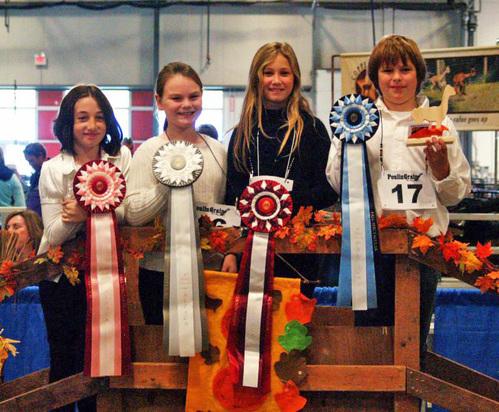 Youth awards at an alpaca show.