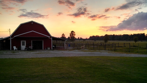 Sunset at the Farm