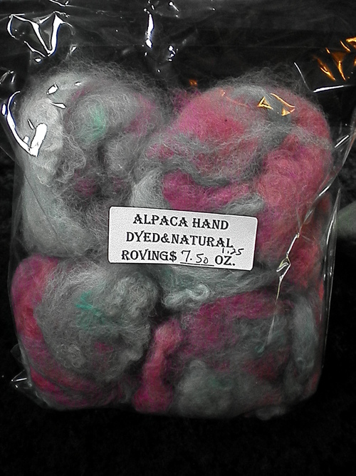 Hand carded and dyed Rovings