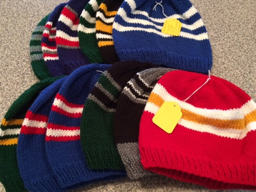 12/25/2015 a dozen hats ready for mailing
