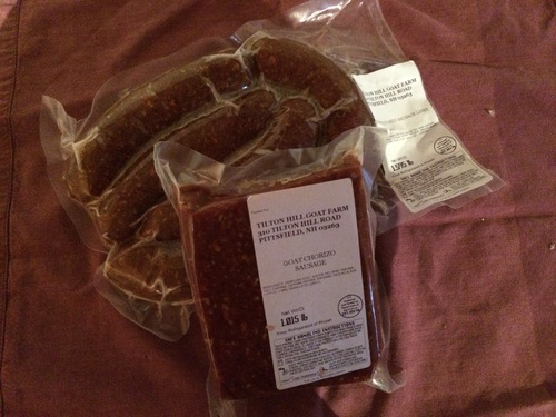 Chorizo sausage  9.50 per lb.