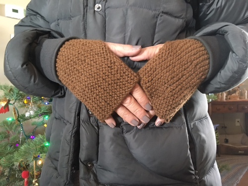 One of our many handknitted items for sale