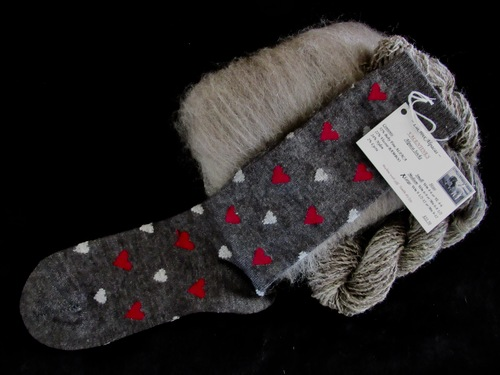 Romantic, whimsical ALPACA Valentines socks made with BABY-FINE Alpaca!  So LUXURIOUS!!!