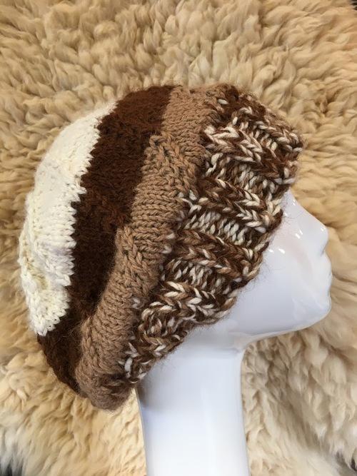 Spiral Tri Color Alpaca Hat