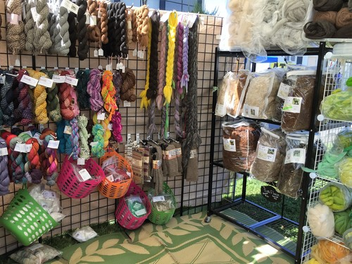 Alpaca Fleece, Yarn, Rovings