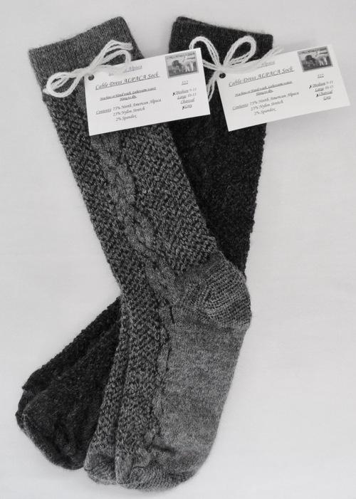 Cabled ALPACA Dress socks!  The stylish dress sock!