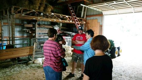UMA members talking at August 4th Membership meeting at Wibotawot Farm.