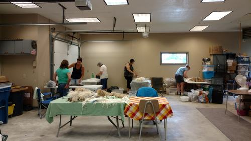 Wet Felting Class with Katya.  Hosted at Fox Way Alpacas, Cannon Falls, MN
