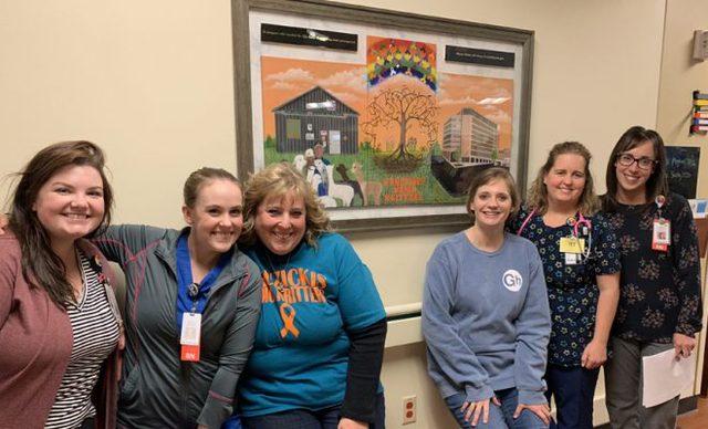 Hospital mural memorializes 'Alpaca Dennis'