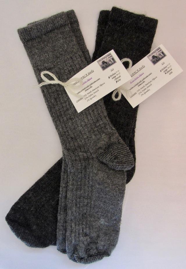 Ribbed ALPACA Dress socks!  Luxury & Comfort beautifully blended!