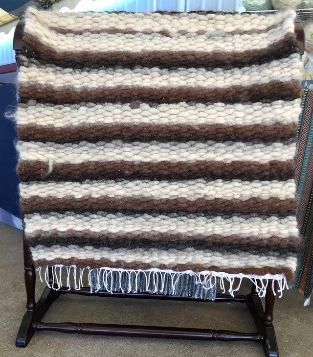 Handwoven Alpaca rug-Black Sheep Gathering