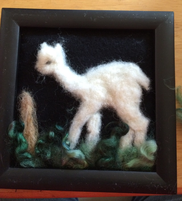 7x7 frame standing white cria no glass