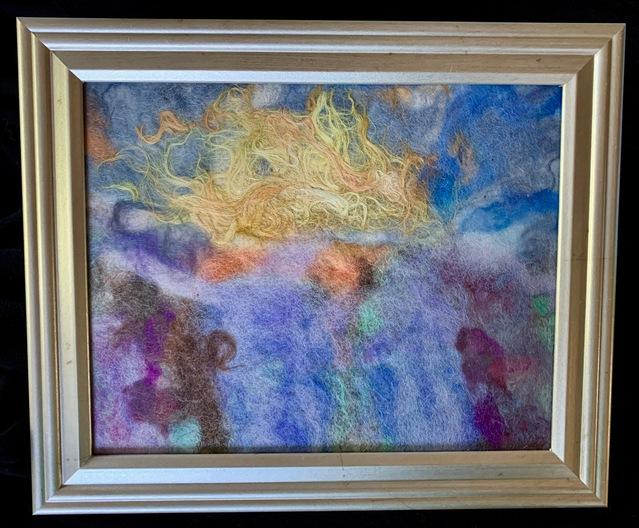 Lavender fields sunrise, framed