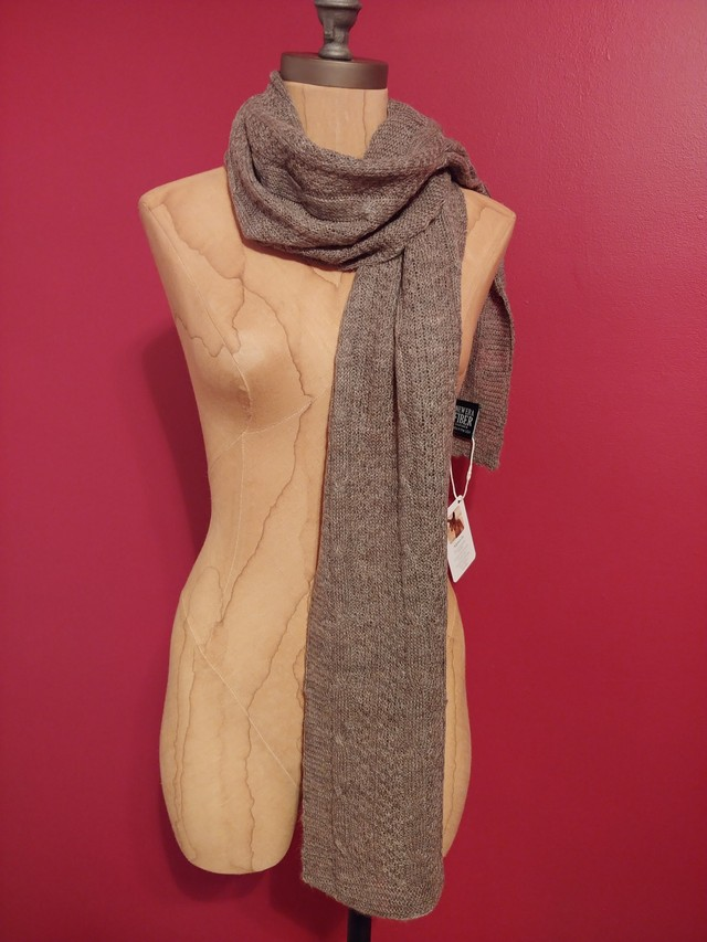 Grey Kaleigh Scarf Wrapped