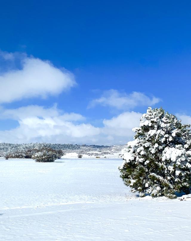 Winter in October at Tres Amigos Ranch