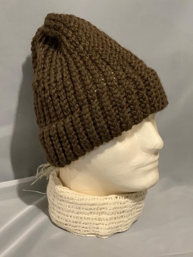 Knitted alpaca blend hat