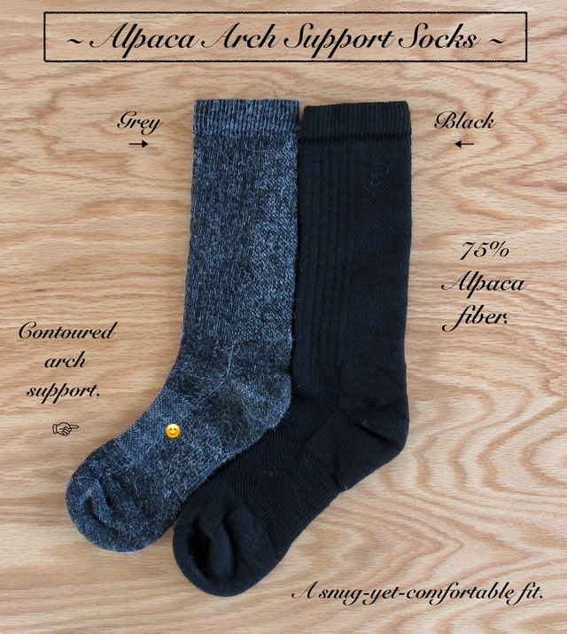 Arch Support ALPACA socks bring foot comfort!