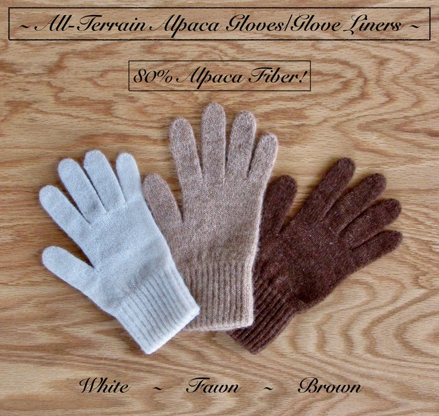 Glove & Mitten liners. Available in white, fawn, & brown.
