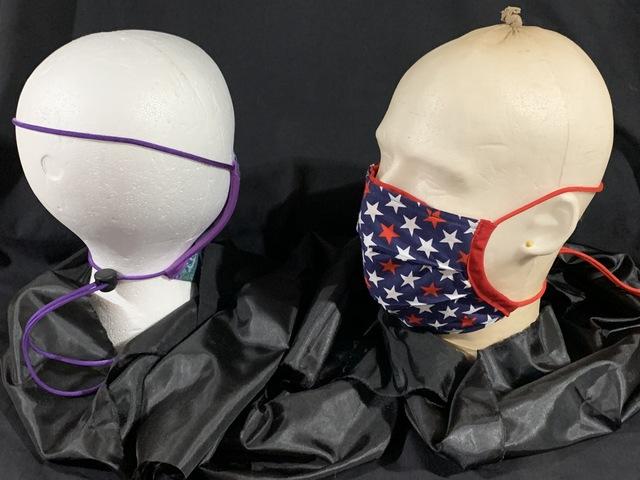 Face mask w/cord lock