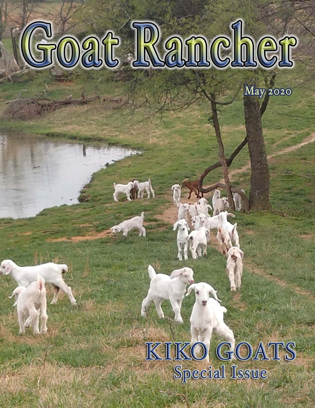 Featured in the May issue of Goat Rancher (pages 24-25).
