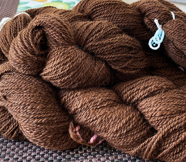 Brown suri yarn