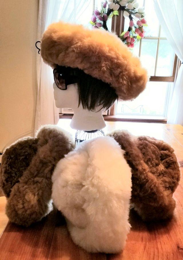Fur hat in 3 colors