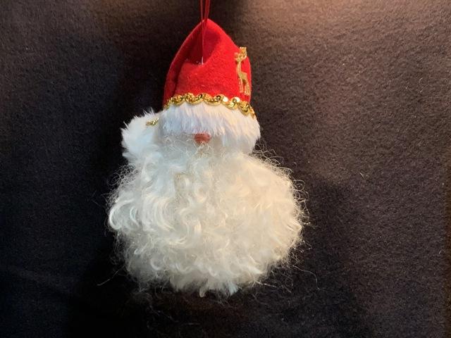 Elegant Suri Santa Ornament!