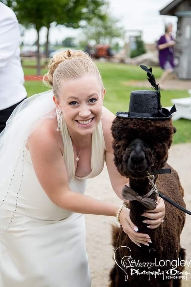An overjoyed Bride!