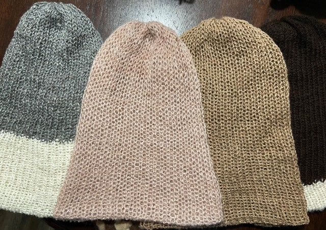 light pink dyed with avocado - far right sold