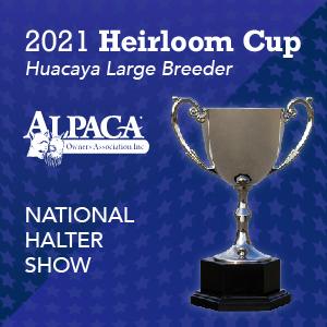 Alpaca Country Estates Won the 2021 AOA Heirloom Breeder Cup